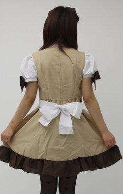 コーヒーメイド服・コスプレ・コスチューム【ウェイトレス風メイド】 (L)