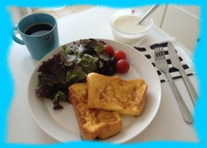 牧野結美の朝食画像1