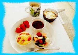 牧野結美の朝食画像2