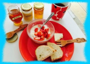 牧野結美の朝食画像3