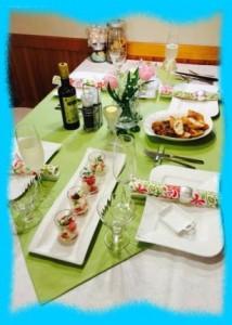 牧野結美の実家での食事の画像1