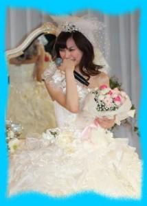 大政絢のウェディングドレス画像2