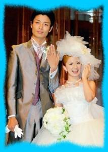 矢口真里と中村昌也の結婚画像