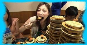 大食いの女性のイメージ画像