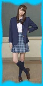 新川優愛の制服画像