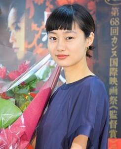 映画「黒衣の刺客」記者会見に出席した忽那汐里